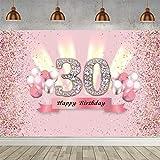 30. Geburtstag Banner 30 Geburtstag Deko Frauen, Stoff