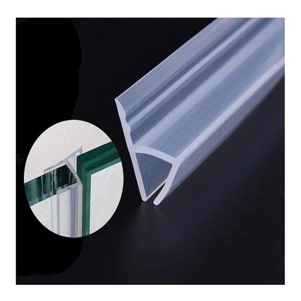 ZMK-720 Soporte Goma Plástico Sello de Baño 2pcs 1M baño de ducha puerta de vidrio sin marco sello de Gaza barrido Burlete sello de caucho de silicona resistente a la intemperie Puerta
