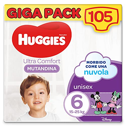 Huggies Ultra Comfort Windeln, Größe 6 (15-25 kg), 105 Stück