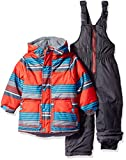 Wippette Baby Boys and Toddler Insulated Snowsuit, Striped Red, 12M