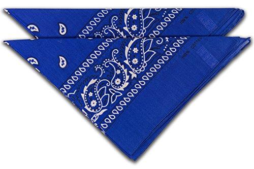 fashionchimp ® Nicki-Halstuch aus 100% Baumwolle im 2er Set, Unisex Bandana, AZO-Frei (Navy-Blau)