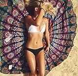 ganesham artesanía–72'indio Ronda Mandala tapiz colgar en la pared manta toalla playa Yoga Mat decoración Boho