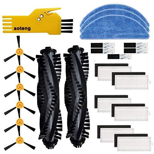 Accessorio di ricambio per aspirapolvere robot ECOVACS DEEBOT 605 Confezione da 2 spazzole principali, 6 filtri Hepa, 6 spazzole laterali, 3 mocio, 1 strumento di pulizia