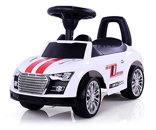MILLY MALLY 2442–Antiscivolo Auto Racer Modellino Auto, Bianco