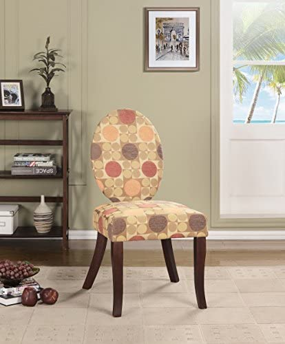 Best Kings Brand Furniture Accent Chair, Multi Color Fabric/Dark Cherry Legs