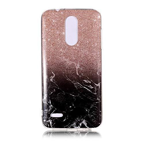 Yhuisen Handy-Taschen und Handy-Hüllen, LG K8 2018 Fall, Marmor Stein Muster weichen TPU zurück Shell Fall für LG K8 2018 (Farbe : 8)