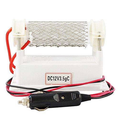 ATWFS Auto-Ozongenerator, 12 V, 3500 mg, Luftreiniger, Quarzröhre, Luft-Ozonator, Edelstahl-Elektrode, O3-Desodorierer, Sterilisator