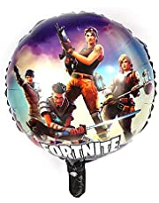 1Pcs Fortnite Round Foil Balloons Kids Birthday Party Decorations(18inch) Supplies Gamer Decoration