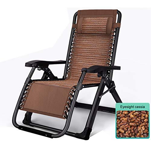 JHNEA Klappbarer Liegestuhl, Liege Freizeitliege Gartenliege Sonnenliege Atmungsaktiv Liegestuhl Garten Liegestuhl Verwendung als Relaxliege,Brown_65x75x80cm/26x29x31in
