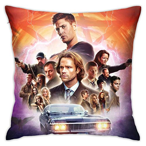 Supernatural Pillow Covers 1818inch Pillowcase Square Cushion Cases with Zipper for Bedroom Livingroom Sofa Couch Decor