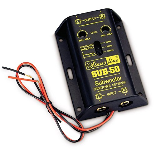 Sinuslive SUB-50 aktive Subwooferweiche, 13323, black