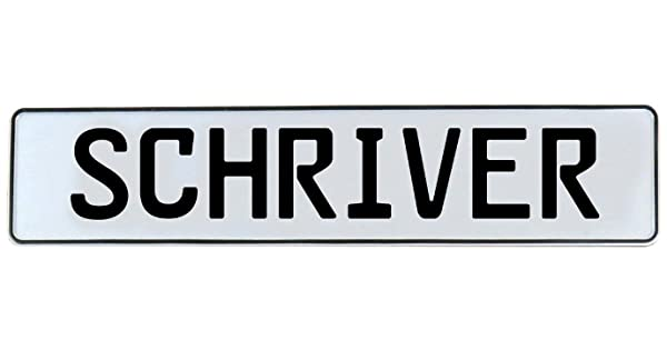 Schriver Vintage Parts 750038 White Stamped Aluminum Street Sign Mancave Wall Art