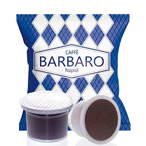 CAFFE' BARBARO Napoli Compatibile Aroma Vero, Martello, Mitaca, Cremoso Napoli Miscela Blu - 100 Capsule