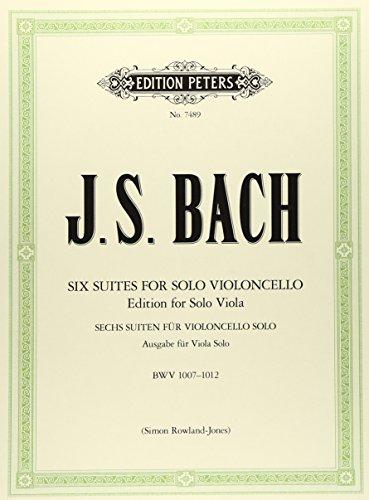 バッハ, J.S.: 無伴奏チェロ組曲 BWV 1007-1012/無伴奏ビオラ用編曲/ペータース社