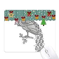 鳥は孔雀カラフルペイント ゲーム用スライドゴムのマウスパッドクリスマス