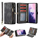 Simicoo OnePlus 7T Pro Leather Wallet Detachable Zipper Case 11...