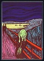 ポスター アンディ ウォーホル Sunday B Morning The Scream (After Munch) 限定1500枚 証明書付 額装品 ウッドハイグレードフレーム(ネイビー)