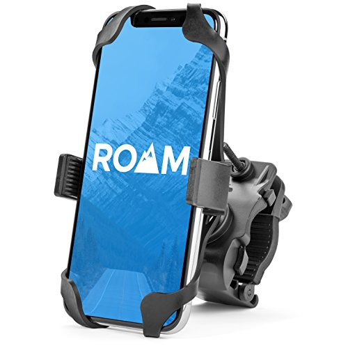"Roam Universal Premium Bike Phone Mount for Motorcycle - Bike Handlebars, Adjustable, Fits iPhone 12, 12Pro 11, X, XR, 8 | 8 Plus, 7 | 7 Plus | Galaxy, S10, S9, S8, Holds Phones Up to 3.5"" Wide"