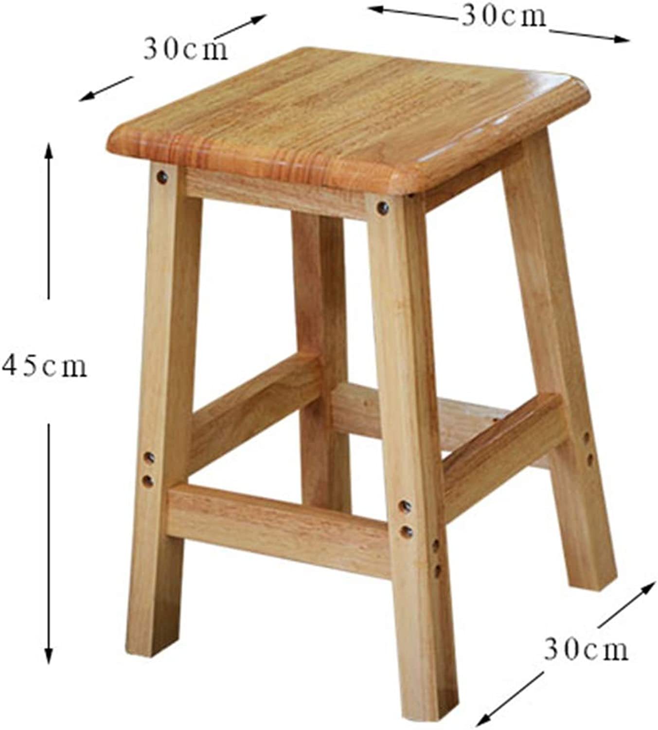 ZHAOYONGLI Stools Footstool Step Stool High Stool Bench Stool Bar Stool Bench Flower Shelf Stool Coffee Table Stool Solid Wood Guitar Stool Square Stool Creative Solid Durable Long Lasting