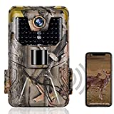 SUNTEKCAM Trail Camera WiFi 24MP 1296P Upgrade Bluetooth Game Cameras with Night Vision Motion Activated and 120°Detection Angel for Outdoor Wildlife Monitoring