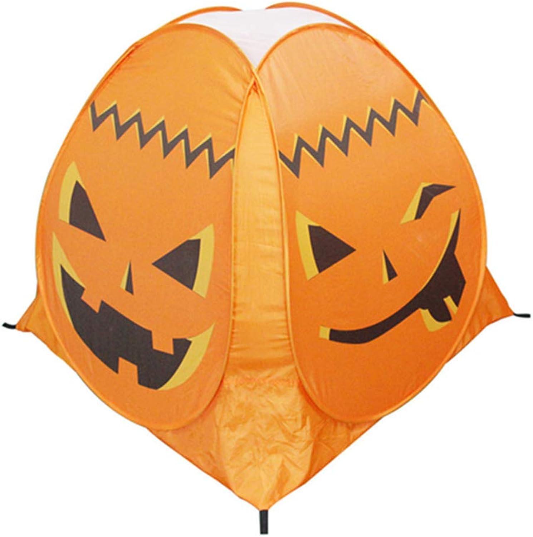 Amosfun Halloween Kürbiszelt Kinder Spielzelt Halloween Ghost Festival Dekoration für Kinder
