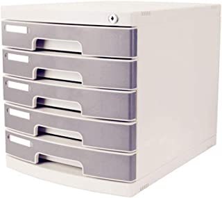 Module de rangement Armoire de Bureau 5 tiroirs avec boîte de Rangement Gray30.2 X 39.5 X 32.5cm