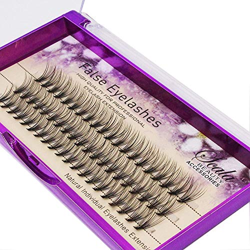 Scala Brand Beauty Natural Long 20 Root 0.07 C Curl 3D Profession Individual Eyelashes Extension Soft Black Fake False Eye Lashes Tools 8-16mm to Choose (15mm)