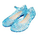 Girls Fancy Jelly Sandals - Princess girls queen dress up cosplay jelly shoes for kids toddler dance party sandals, mary janes for your child to wear at weddings,parties,carnivals or casual Material - Synthetic,Little plastic smell is normal.Putting ...