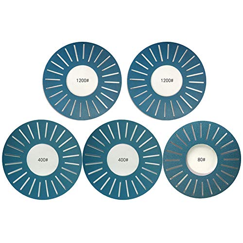 Almabner Schleifpapier 5 Stück DIY Home Schleifpapier Disc Durable Schlitz Schleifmittel Kits für Arbeit Sharp WS3000, Nicht Null, blau, Free Size