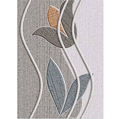 Alfombras Bebes Gateo gris Alfombra de sala de estar gris abstracto flor patrón alfombra suave duradera Alfombras Para Terrazas Los 200X300CM Alfombras Juveniles De Habitacion 6ft 6.7''X9ft 10.1''