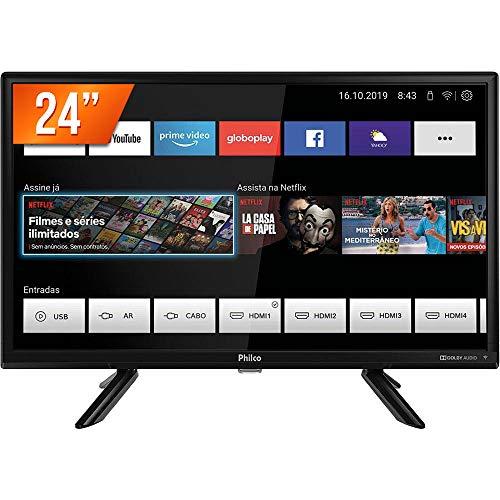 Smart TV LED 24' Philco PTV24G50SN Conversor Digital HD com 2 HDMI
