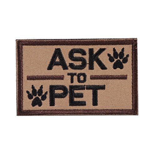 OneTigris Moral Patch Taktisches Stickerei Klett-Patch für Hund