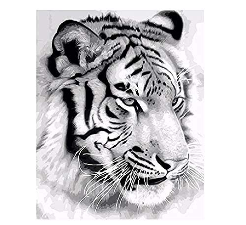 ZYJHD Jigsaw Puzzle Adult 1000 Piece Jigsaw 3D Wooden Classic Jigsaw Tiger Animal DIY Collection Modern Home Decoration