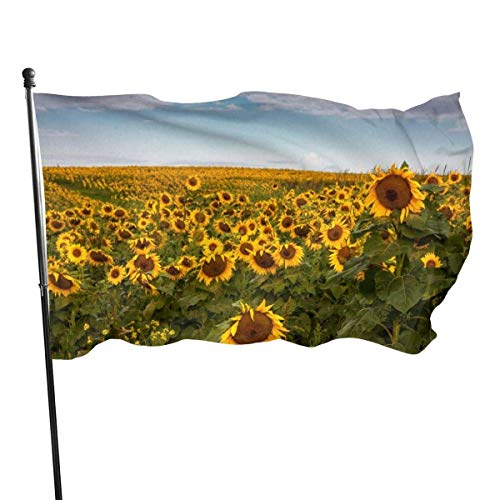 huatongxin Sun And Flower Garden Flag 5ft x 3ft Durable House Yard Flag Decorative Outdoor House Decor Seasonal Summer Celebration Home Garden Flag Banner for Outdoor Home Garden