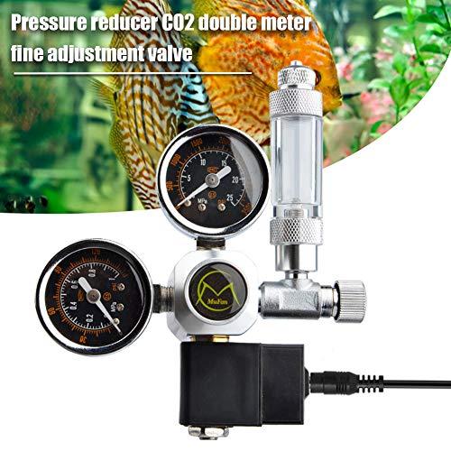 Druckminderer CO2 Variante Mehrweg mit fest verbauten Magnetventil und Rückschlagventil Nadelventil Aquarium Nachtabschaltung W21.8 Interface