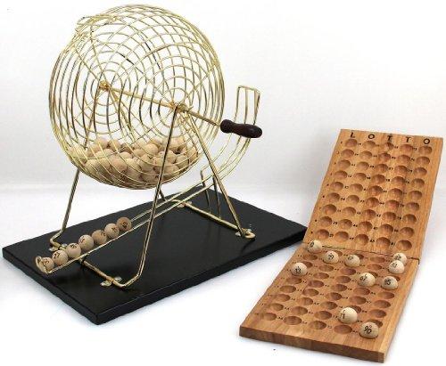 Unbekannt Großes Bingo / Lotto Set, mit großer Trommel, Höhe ca. 43 cm, Typ:Zahlen 1-90
