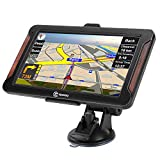 Sat Nav 7 Inch Car GPS Navigation System SIXGO Touch Screen with 2021 UK/EU Maps Voice Broadcast Postcodes POI Speed Camera Alerts And Free Lifetime Maps Update