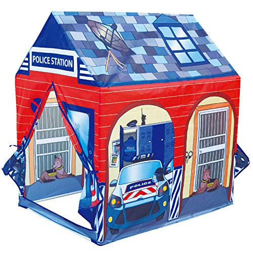 POCO DIVO Police Station Play Tent Kids Pretend Super Hero Playhouse