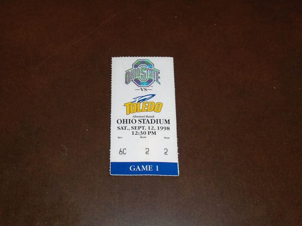 1998 Genuine Super intense SALE TOLEDO OHIO STATE FOOTBALL STUB TICKET