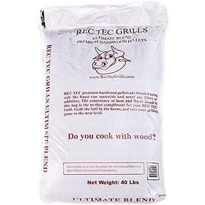 Rec Tec 40Lb Bag Grills Ultimate Premium Hardwood Grilling Cooking Pellet Barbecue BBQ Grill Smoker Blend, 40 Pound Bag (4 Pack)