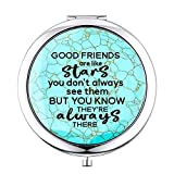Best Friends Gift for Women Female,Long Distance Birthday Gifts for Friends Sisters,Coworker Leaving Gifts for Women(Friends are like stars)