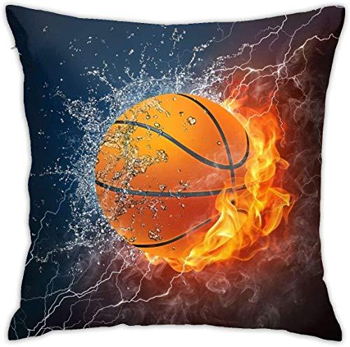 BONRI Vintage Baseball Sports Throw Pillow Covers Funda de Almohada Decorativa de 18x18 Pulgadas Fundas de cojín cuadradas para el hogar Sofá Dormitorio Sala de Estar-Deportes Baloncesto