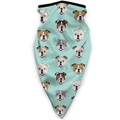 Zome Lag Outdoor-bandanas, uniseks, bivakmuts, hoofdbedekking, multifunctionele hoofdband, bloemen grappige Engelse bulldoggengezichtsschaal, zachte hoofdwikkeling, bandanas in de buitenlucht