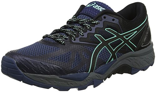 Asics Gel-Fujitrabuco 6 Trail, Zapatillas de Running Mujer, Azul (Insignia Blue/Black/Ice Green), 37.5 EU