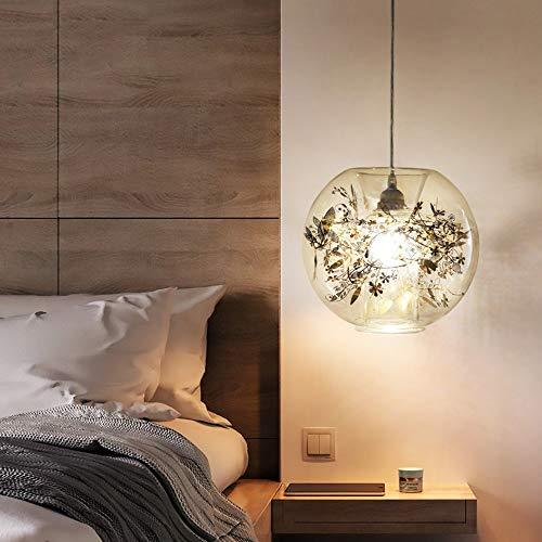 The only good quality binnenliggende glazen kroonluchter van roestvrij staal gesneden bloemen decoratieve lampen geschikt voor woonkamer / slaapkamer kant van bed / bank / balkon / veranda