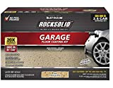 Rust-Oleum 293515 Rocksolid Polycuramine Garage Floor Coating, 2.5 Car Kit, Tan