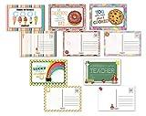 50 Teacher Postcards - 5 Fun Teacher Designs - 4' x 6' School Postcards - Made In USA (Teacher)
