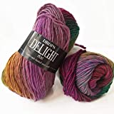 Superwash Sock Wool Blend Gradient Yarn Drops Delight, Superfine, Fingering Weight, 4 ply, 1.8 oz 191 Yards per Ball (11 Lilac/Green)