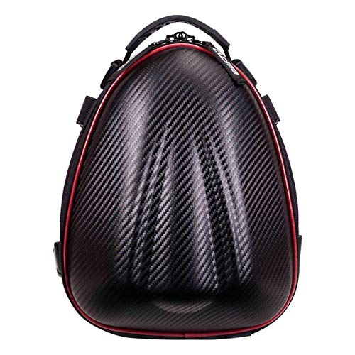 Motorcycle Back Seat Saddle Bag Hard Shell Rear Seat Bag Moto Trunk Waterproof Backpack Motorcycle Travel Motorbike Rider Bag motorcycle motorbike box (Color Name : Red)