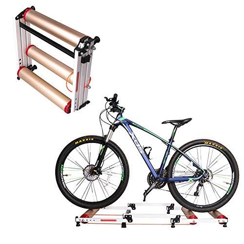 KLY draagbare upgrade opvouwbare fiets weerstandstrainer standaard - Indoor oefenwielen, stationair voor mountainbike/racefiets (16-27 inch)